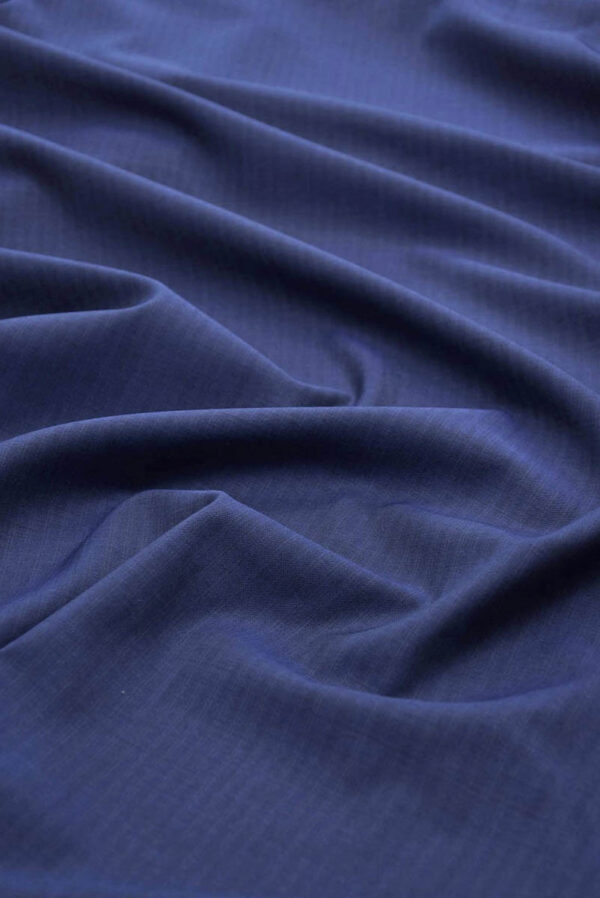 Костюмная шерсть темно-синяя узкая полоска (5679) - Фото 6