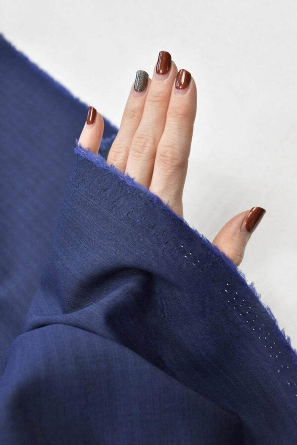 Костюмная шерсть темно-синяя узкая полоска (5679) - Фото 10