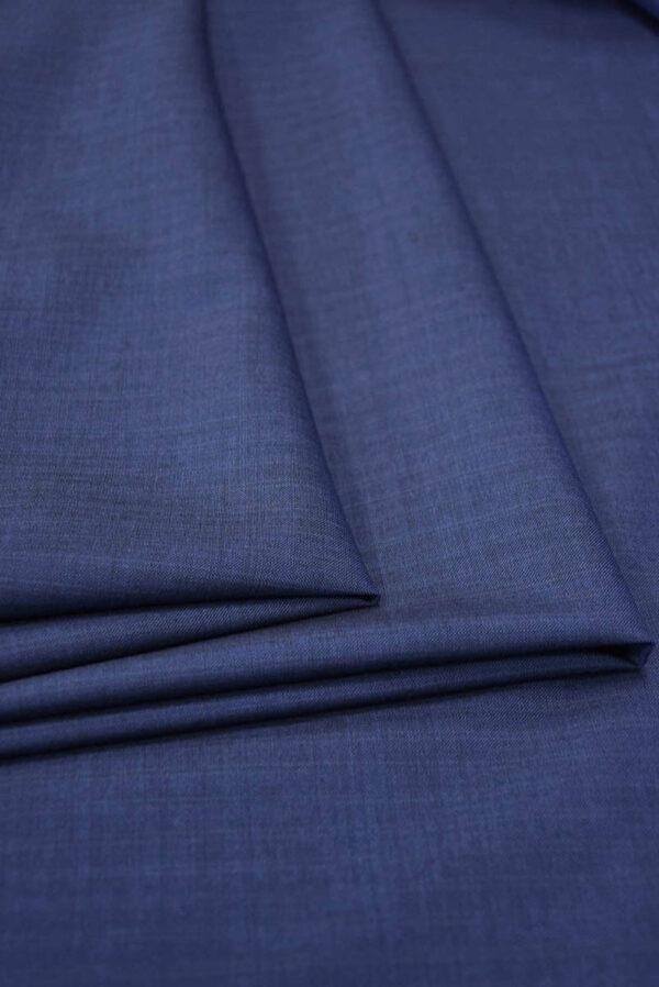 Костюмная шерсть темно-синяя узкая полоска (5679) - Фото 8