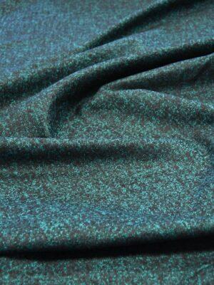 Твид костюмный стрейч зеленый с черныйм пестрый (5790) - Фото 12