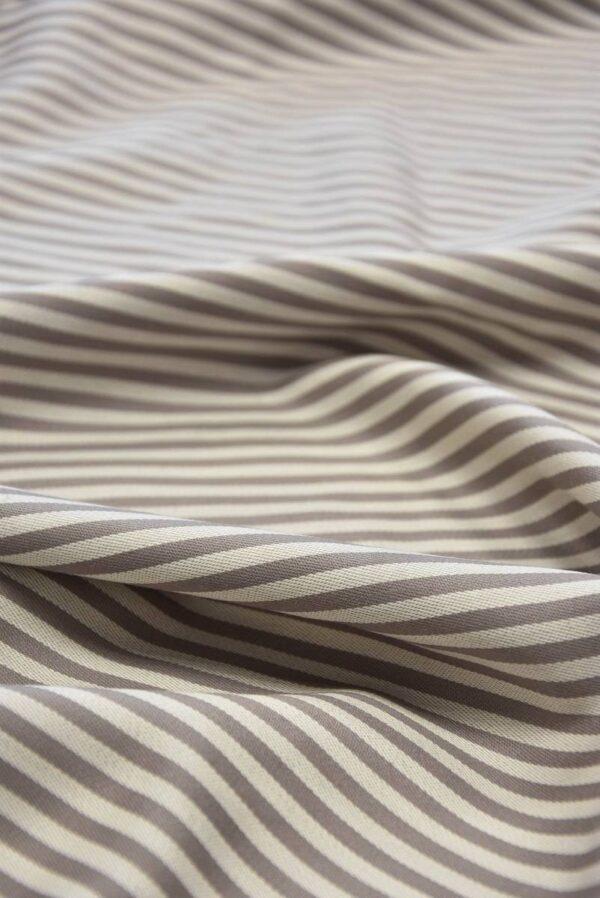Костюмная шерсть с шелком беж в полоску (5825) - Фото 11