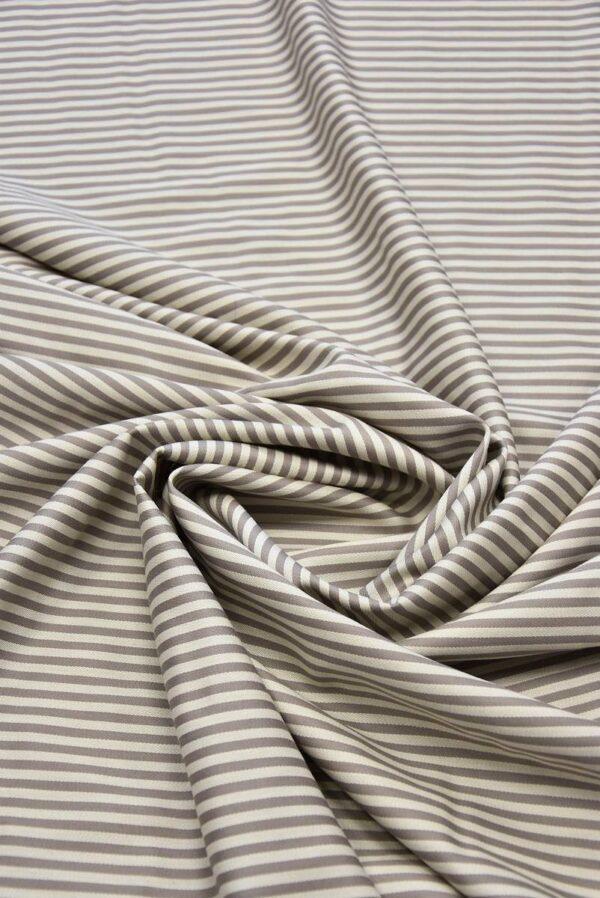Костюмная шерсть с шелком беж в полоску (5825) - Фото 9