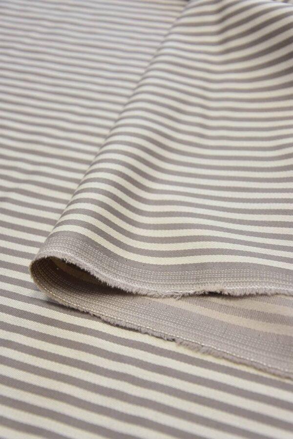 Костюмная шерсть с шелком беж в полоску (5825) - Фото 7