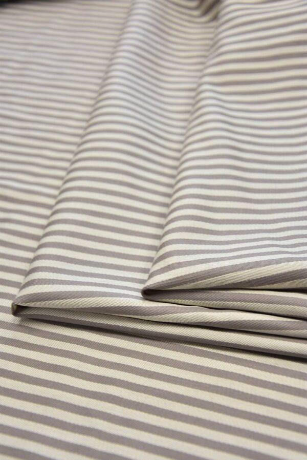 Костюмная шерсть с шелком беж в полоску (5825) - Фото 8
