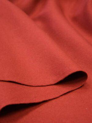 Пальтовая шерсть без ворса красно-оранжевый оттенок (5846) - Фото 12