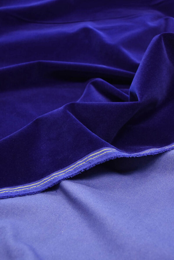 Бархат темно-синий матовый (5881) - Фото 9