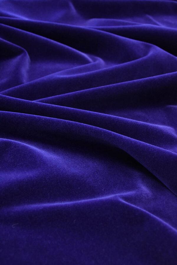 Бархат темно-синий матовый (5881) - Фото 6