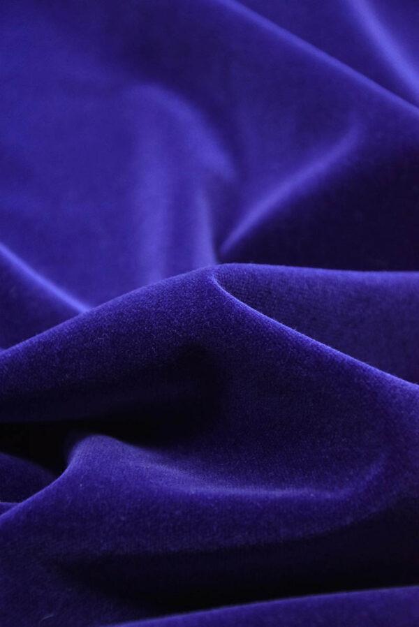 Бархат темно-синий матовый (5881) - Фото 8