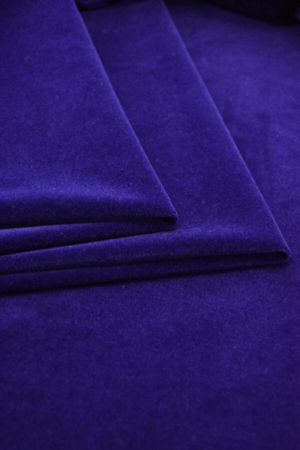 Бархат темно-синий матовый (5881) - Фото 10