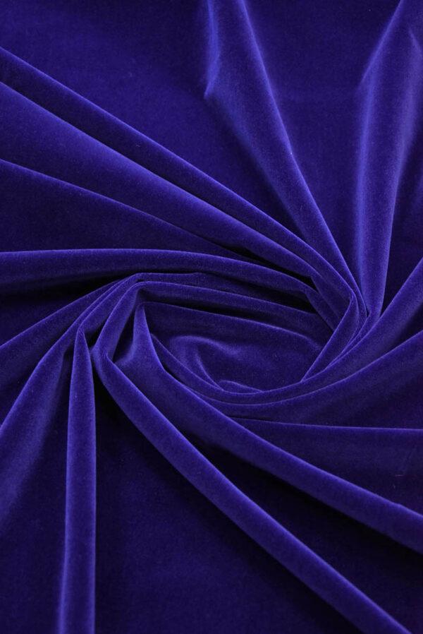 Бархат темно-синий матовый (5881) - Фото 7