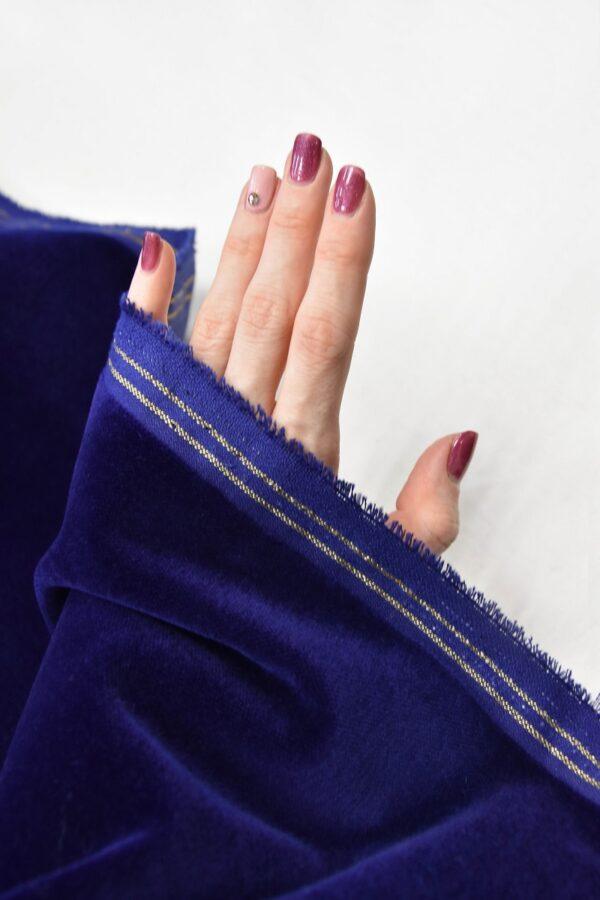 Бархат темно-синий матовый (5881) - Фото 11