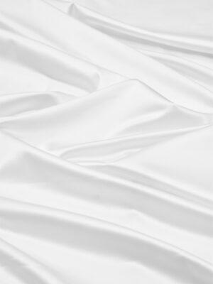 Атлас стрейч белый с матовым блеском (5975) - Фото 11