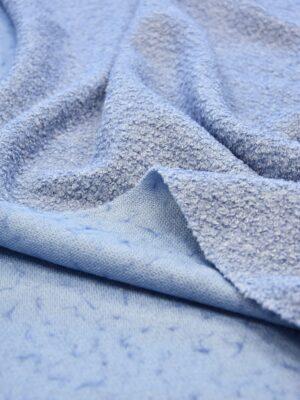 Букле трикотаж голубой оттенок (6086) - Фото 13