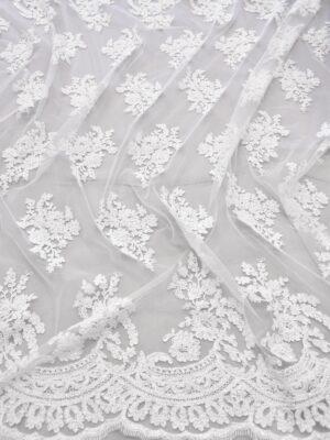 Кружево белое сутажное с цветами (6148) - Фото 16