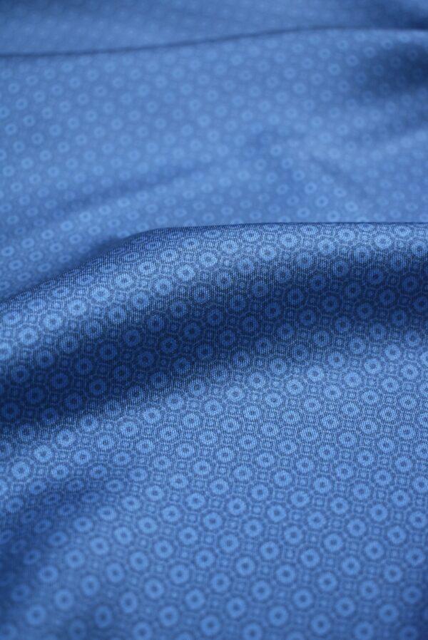 Твил голубой в мелкий ромб (6852) - Фото 7