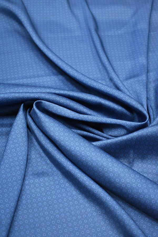 Твил голубой в мелкий ромб (6852) - Фото 8