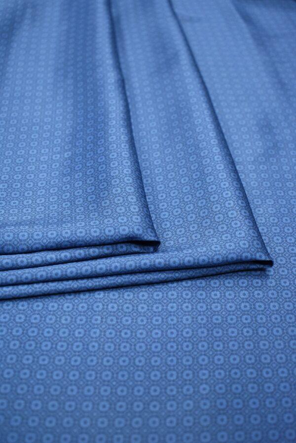 Твил голубой в мелкий ромб (6852) - Фото 9
