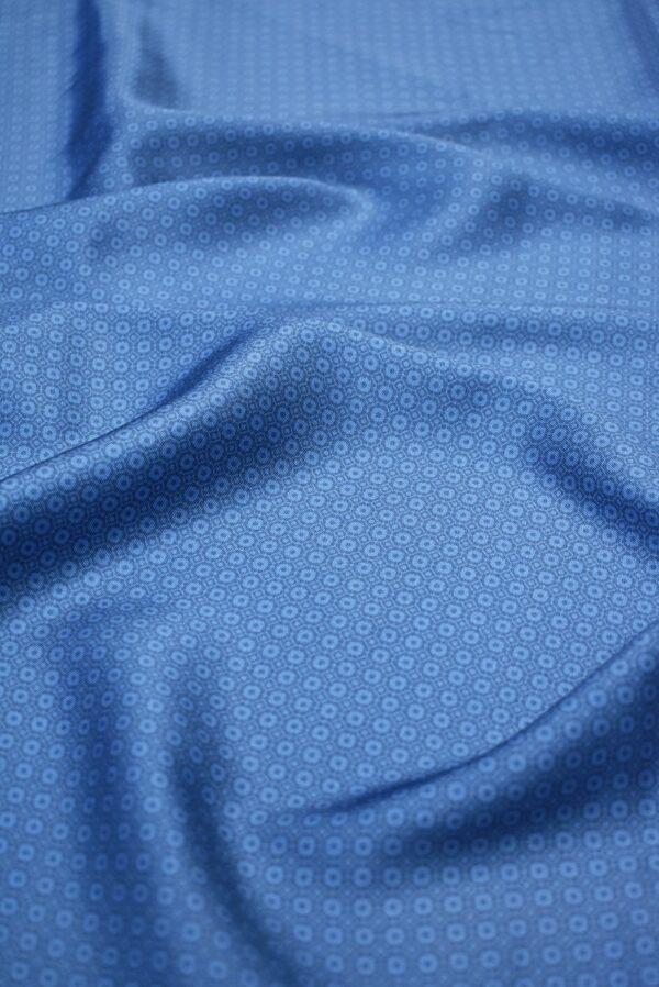 Твил голубой в мелкий ромб (6852) - Фото 6