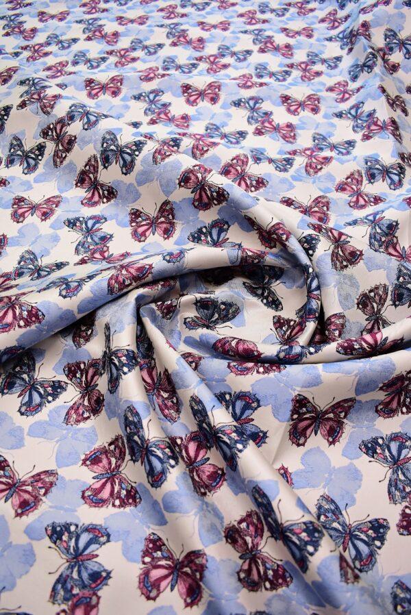 Жаккард с бабочками на светлом фоне (6872) - Фото 7