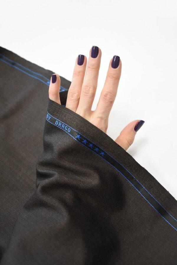 Костюмная шерсть коричневого оттенка (7159) - Фото 7