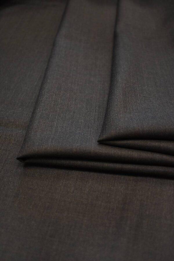 Костюмная шерсть коричневого оттенка (7159) - Фото 8
