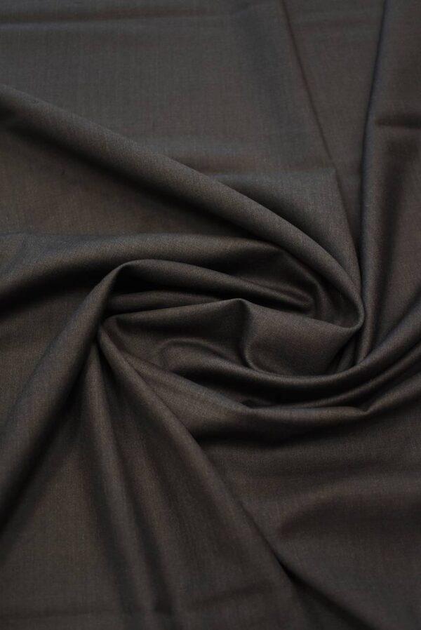 Костюмная шерсть коричневого оттенка (7159) - Фото 9