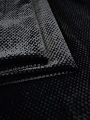 Бархат черный фактурный с шелковой подкладкой (7473) - Фото 17