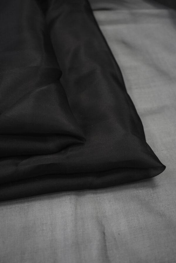 Органза шелковая черная (7758) - Фото 9