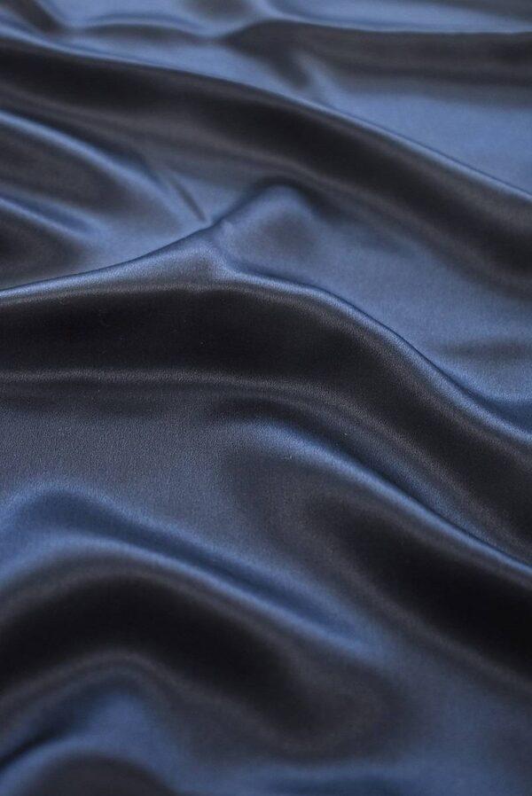 Шелк темно-синий с графитовым подтоном (7776) - Фото 6