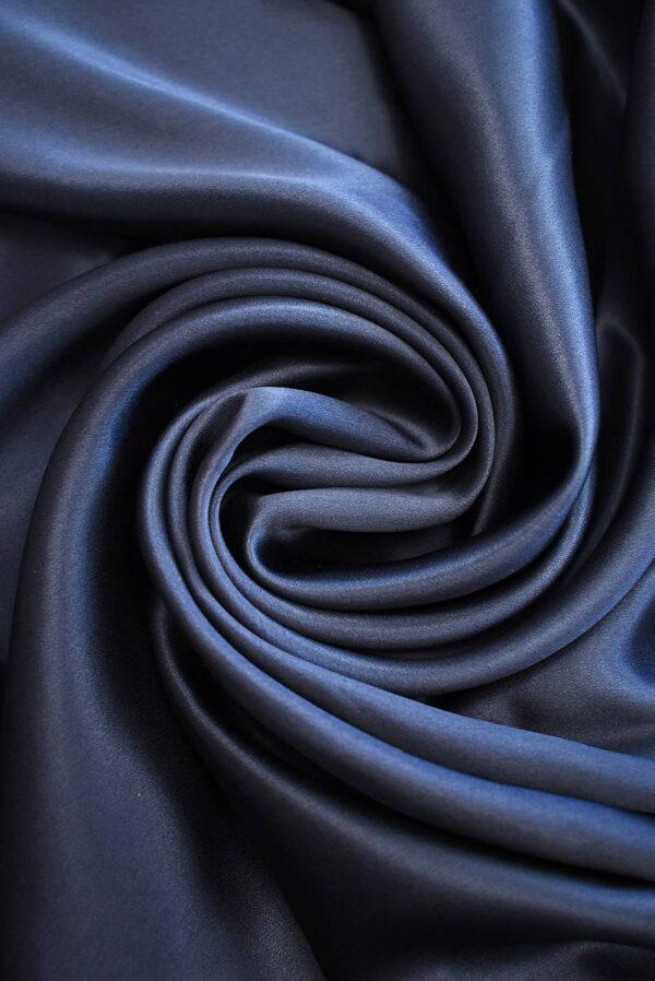Шелк темно-синий с графитовым подтоном (7776) - Фото 7
