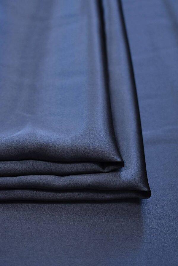 Шелк темно-синий с графитовым подтоном (7776) - Фото 8