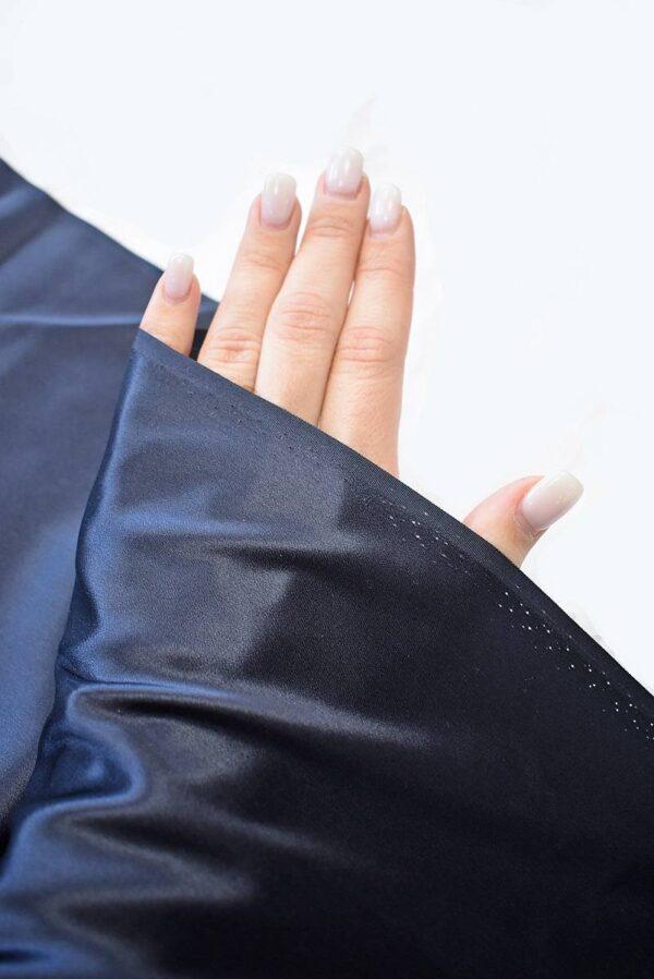 Шелк темно-синий с графитовым подтоном (7776) - Фото 10