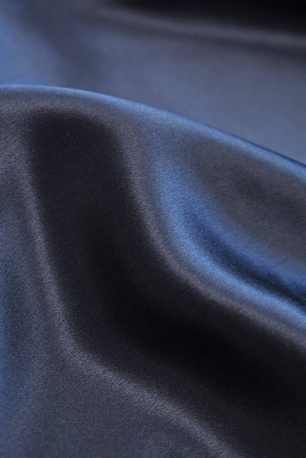 Шелк темно-синий с графитовым подтоном (7776) - Фото 9