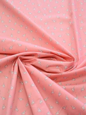 Хлопок стрейч оригами на розовом фоне (7861) - Фото 13