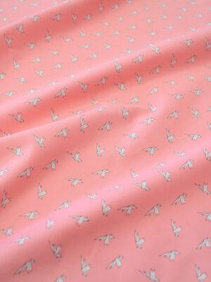 Хлопок стрейч оригами на розовом фоне (7861) - Фото 12