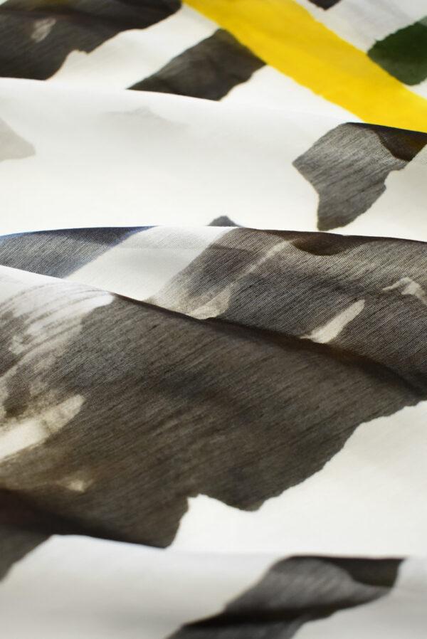 Батист с разноцветными полосами на белом фоне (7911) - Фото 9