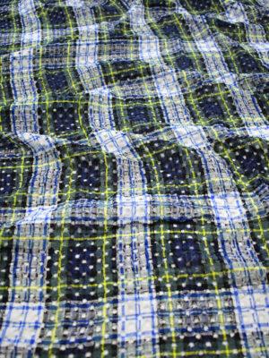 Шитье в клетку в оттенках зеленого синего желтого (8181) - Фото 21