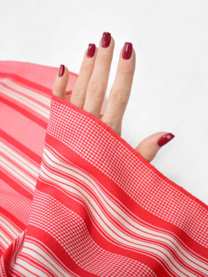 Штапель в красную с белым полоску (8220) - Фото 14