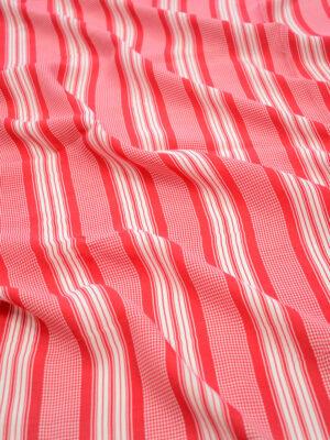 Штапель в красную с белым полоску (8220) - Фото 13