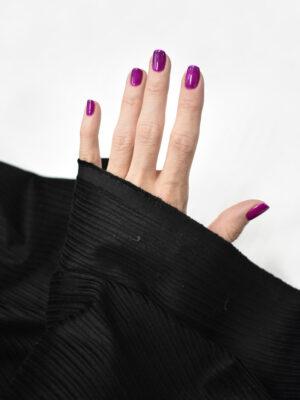 Вельвет черный в крупный рубчик (8489) - Фото 25
