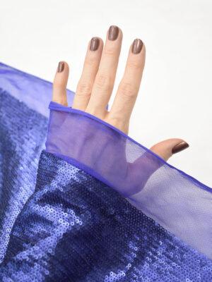 Пайетки синие на мягкой сетке (9062) - Фото 27