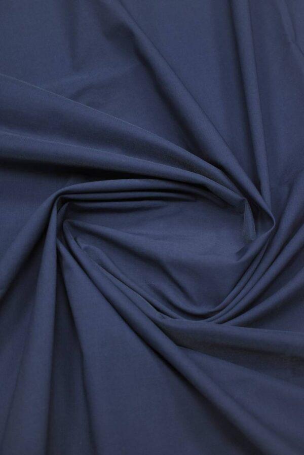 Хлопок стрейч оттенок синий (9147) - Фото 8
