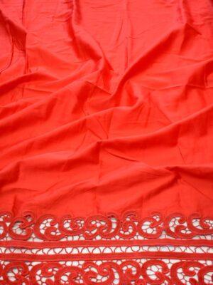 Хлопок красный с кружевной каймой (9171) - Фото 12