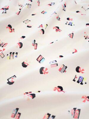 Хлопок рубашечный бледно-розовый с шезлонгами и зонтиками (9191) - Фото 16