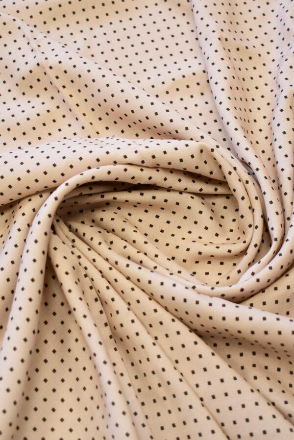 Штапель пыльная роза в мелкий квадратик (9276) - Фото 8