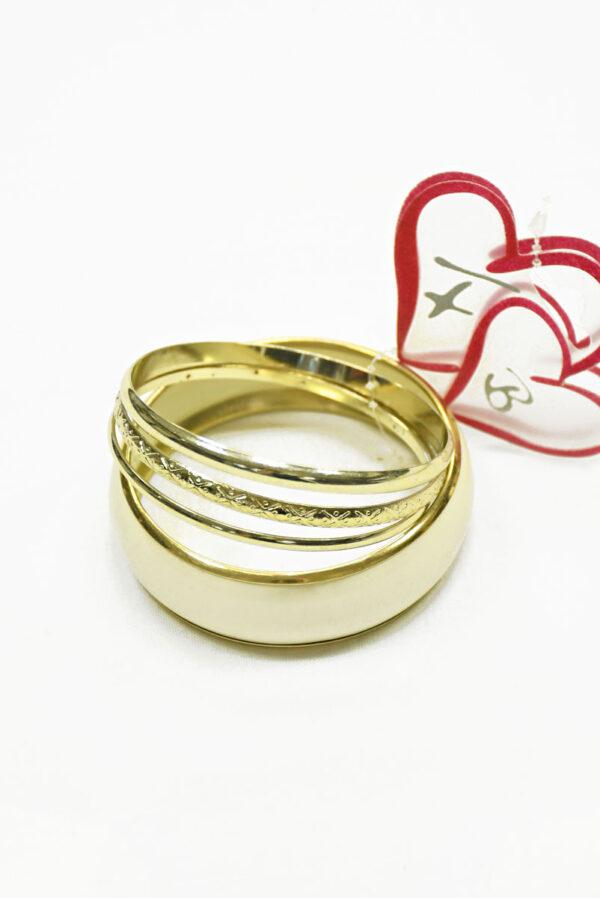 Браслет металл золото пластик