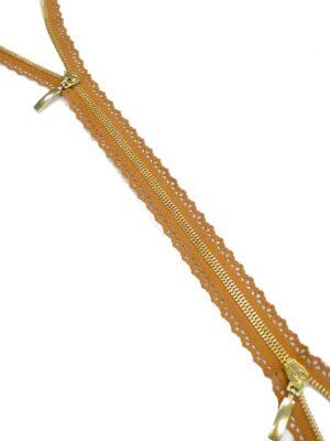 Молния разъемная металл золото терракотовая 97 см (m0884) - Фото 13