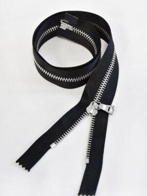 Молния атласная черная металл никель 60 см (м0899) - Фото 11