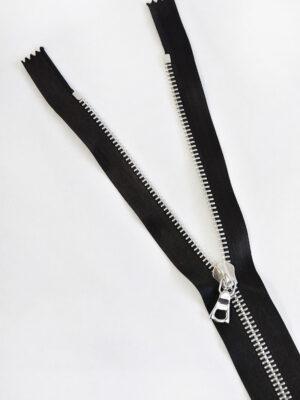 Молния атласная черная металл никель 60 см (м0899) - Фото 12
