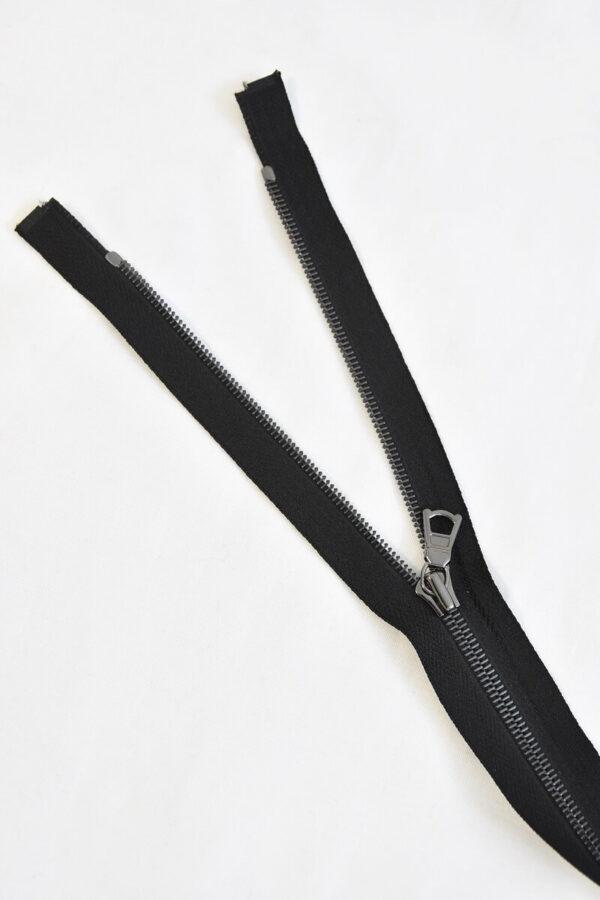 Молния блэк никель черная два бегунка 100 см (M0905 M1141) - Фото 8